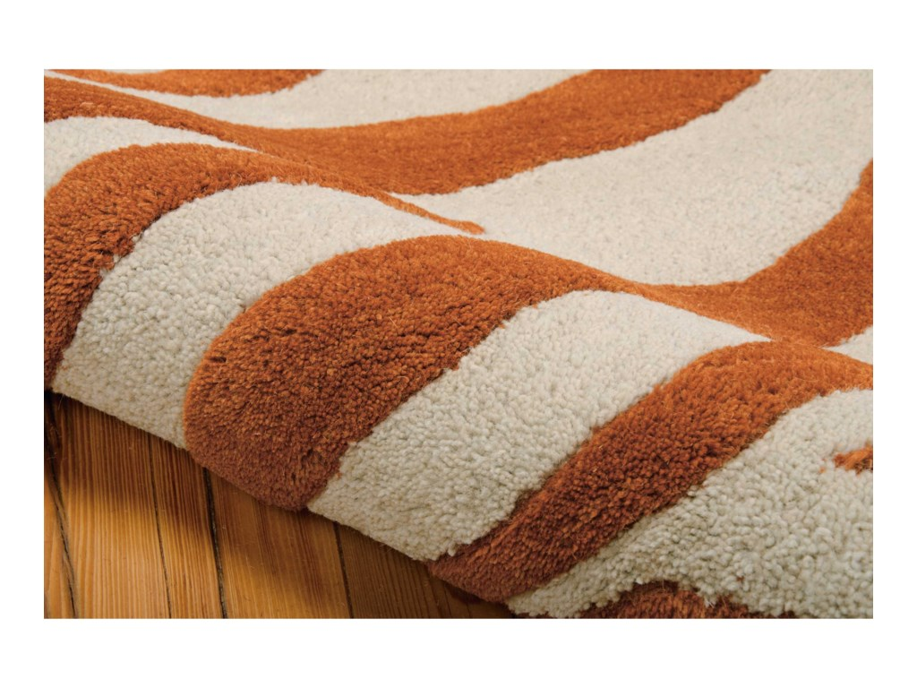 Nourison Skyland8' x 11' Iv/Rust Rectangle Rug