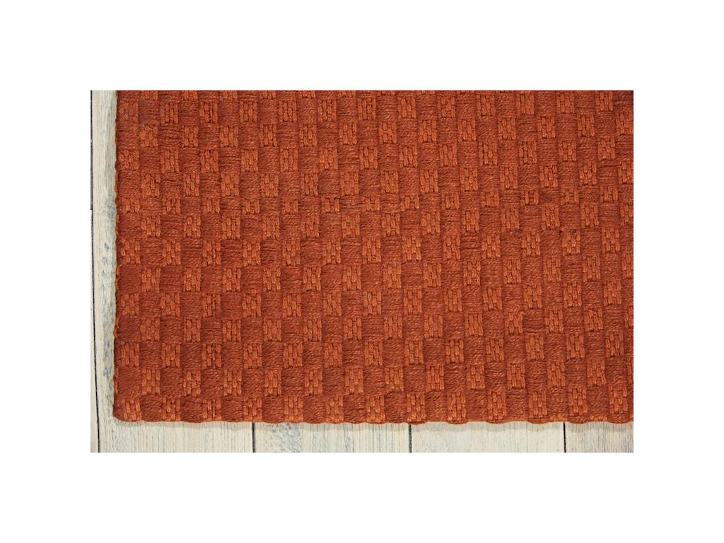 Nourison Sojourn5' x 7' Orange Rectangle Rug