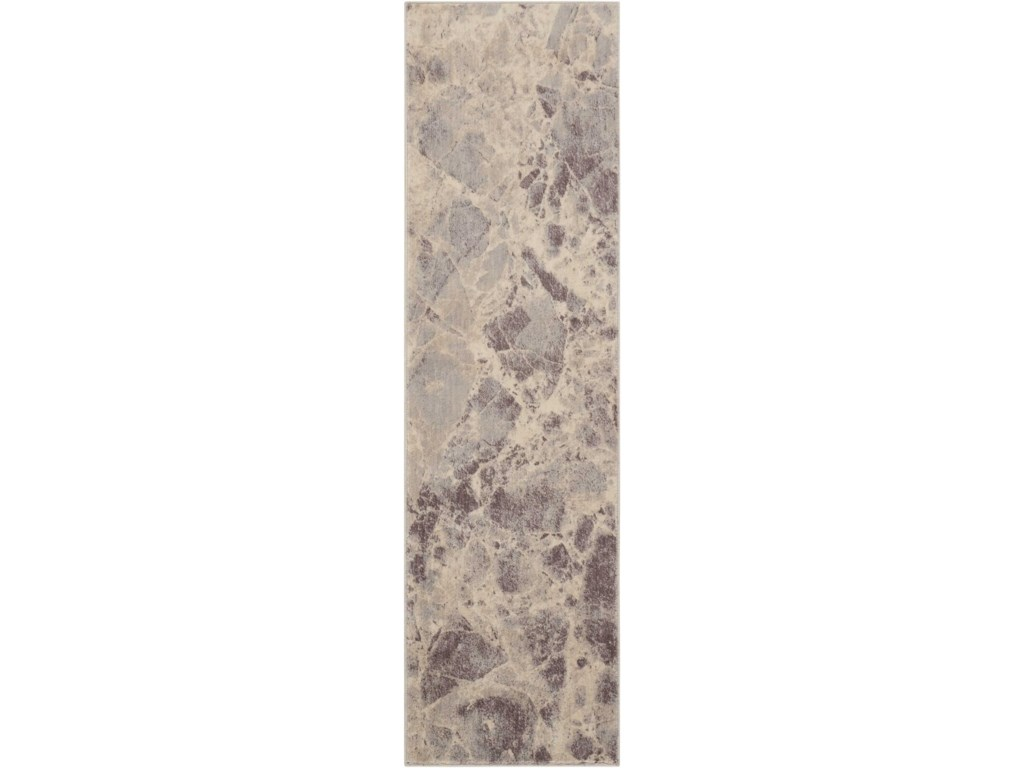 Nourison Somerset 2 X 59 Grey Runner Rug Belfort Furniture Rugs