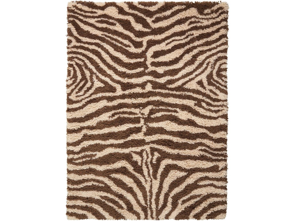 Nourison Splendor5' x 7' Ivory/Brown Rectangle Rug