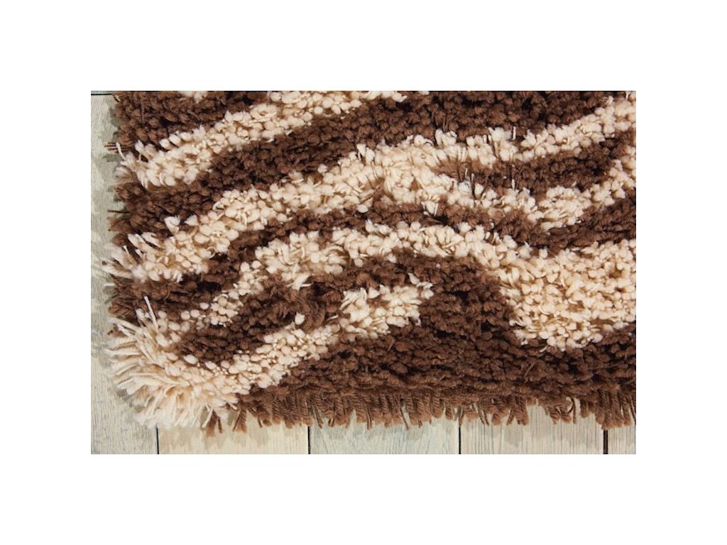 Nourison Splendor5' x 7' Ivory/Brown Rectangle Rug