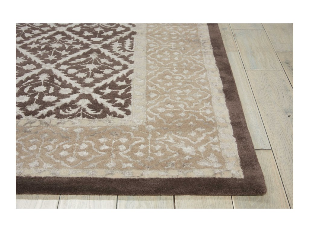 Nourison Symphony8' x 11' Charcoal Rectangle Rug
