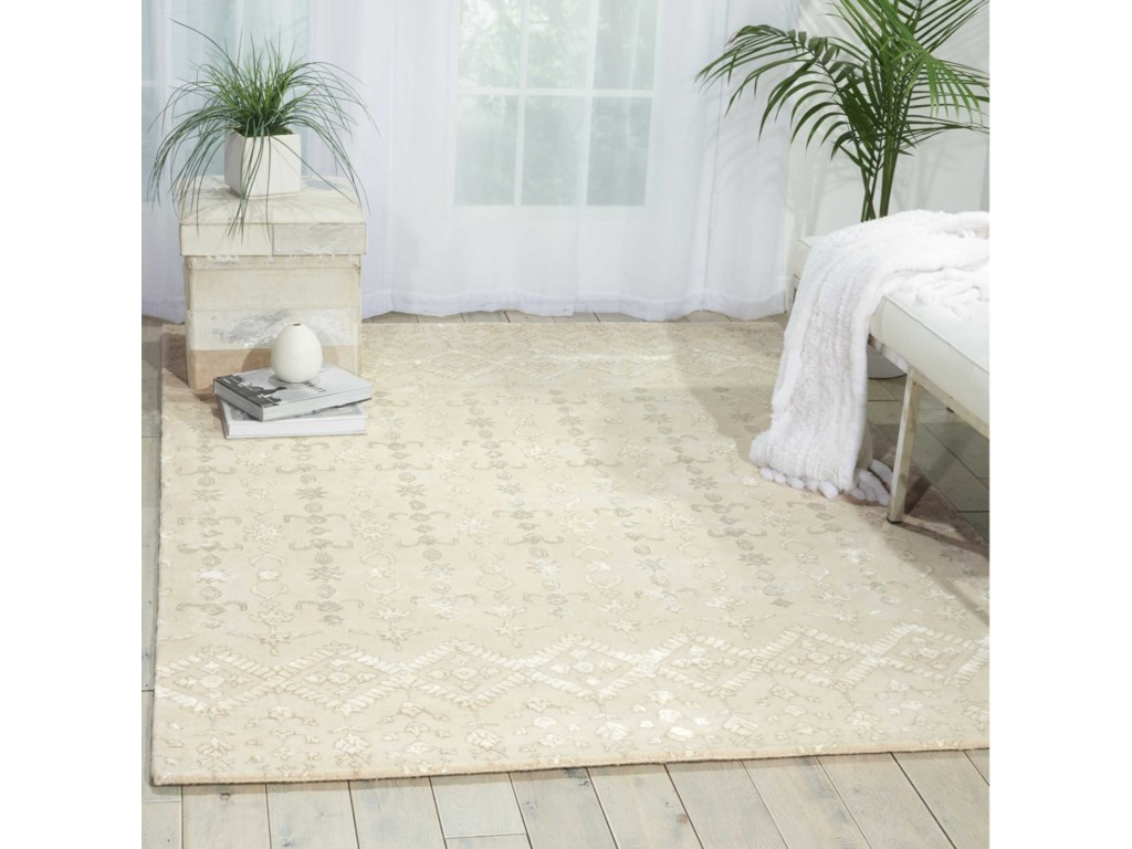 Nourison Symphony8' x 11' Ivory Rectangle Rug