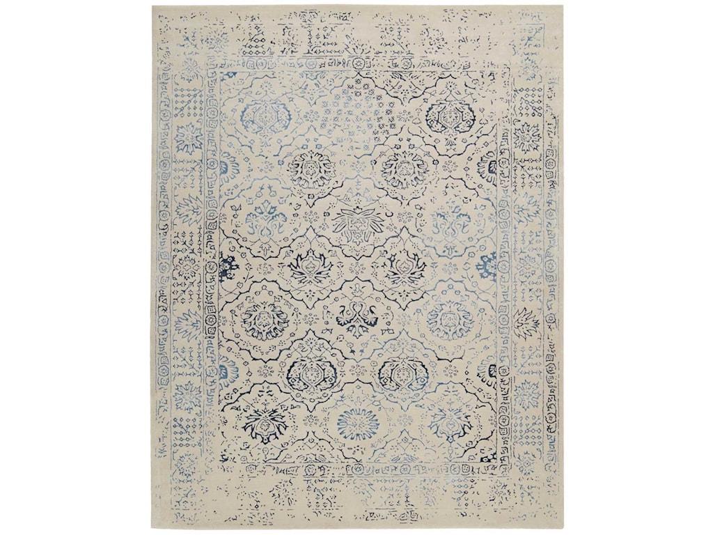 Nourison Symphony8' x 11' Ivory/Blue Rectangle Rug
