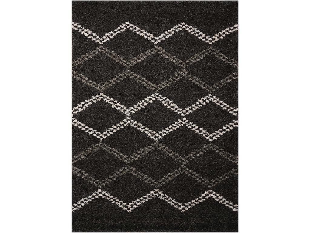 Nourison Tangier5' x 7' Black Rectangle Rug