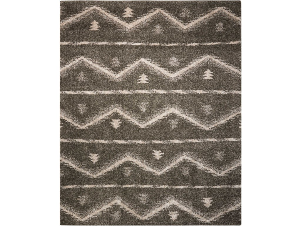 Nourison Tangier8' x 10' Grey Rectangle Rug