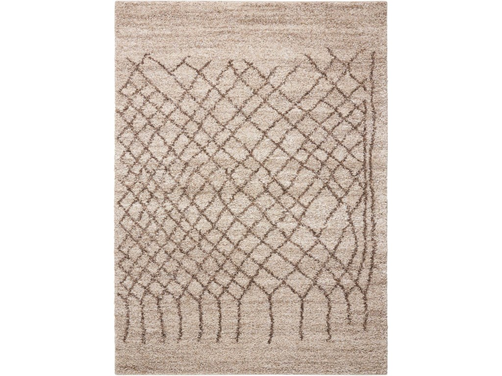 Nourison Tangier5' x 7' Bone Rectangle Rug