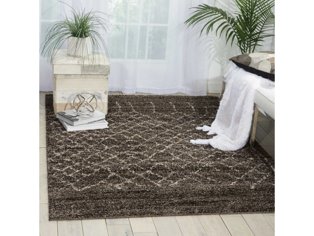 Nourison Tangier5' x 7' Charcoal Rectangle Rug