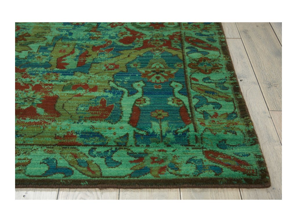 Nourison Timeless12' x 15' Turquoise Rectangle Rug