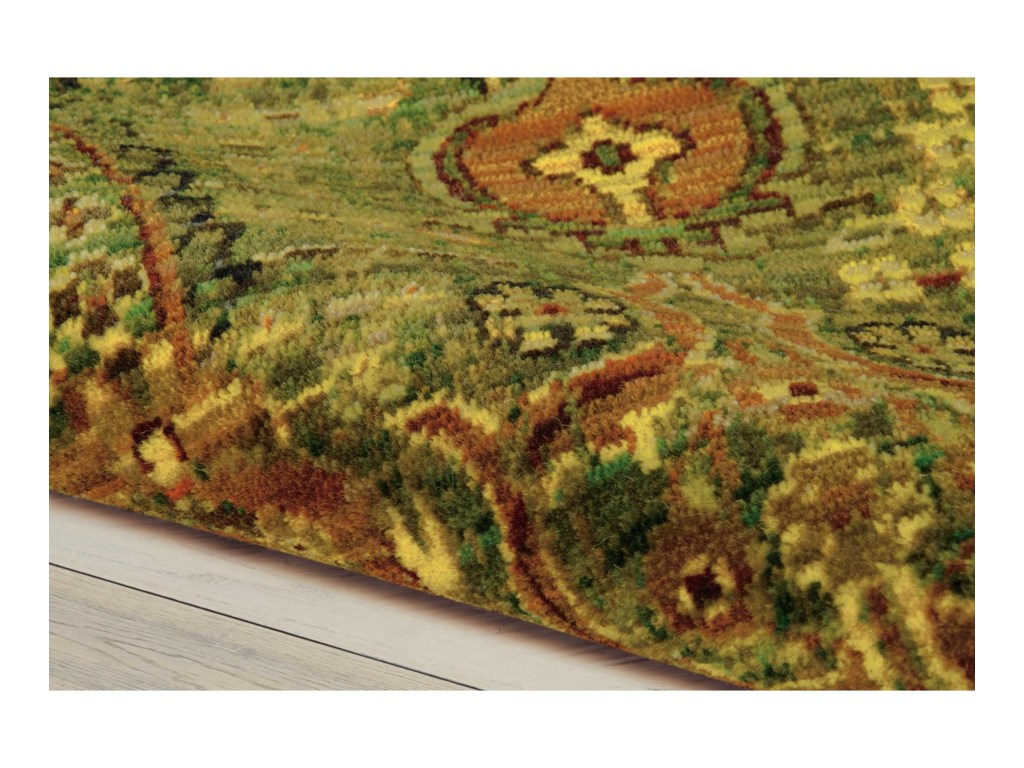 Nourison Timeless12' x 15' Green Gold Rectangle Rug