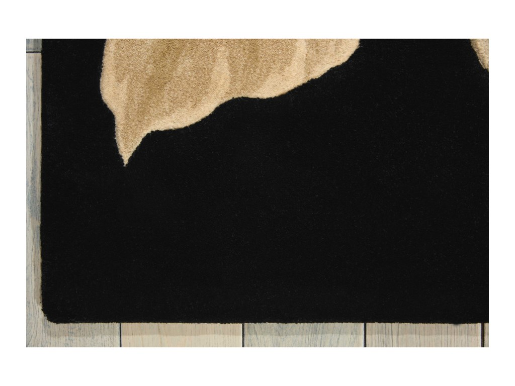 Nourison Tropics8' x 11' Black Rectangle Rug