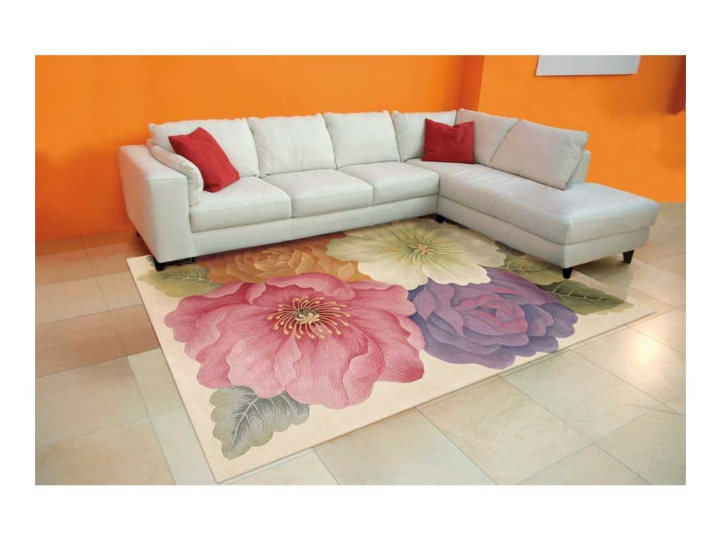 Nourison Tropics8' x 11' Multicolor Rectangle Rug