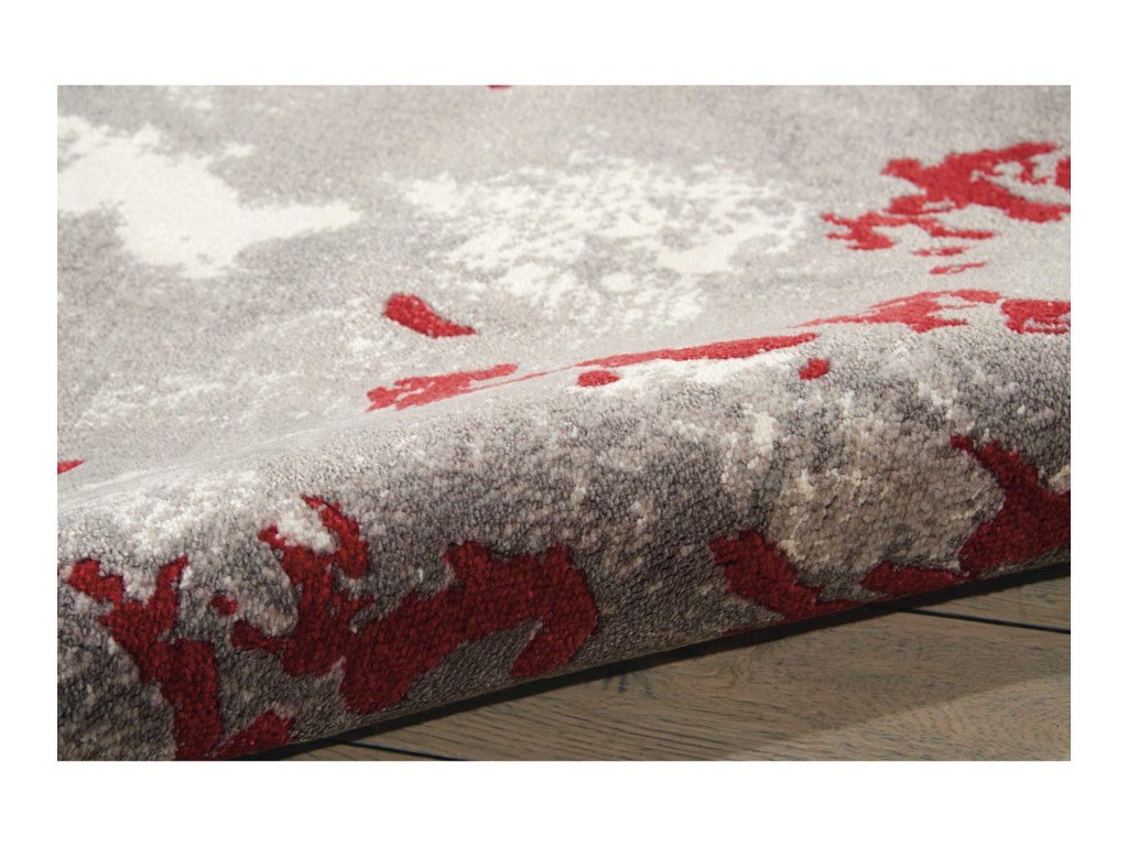 Nourison Twilight112' X 15' Gry/Red Rug