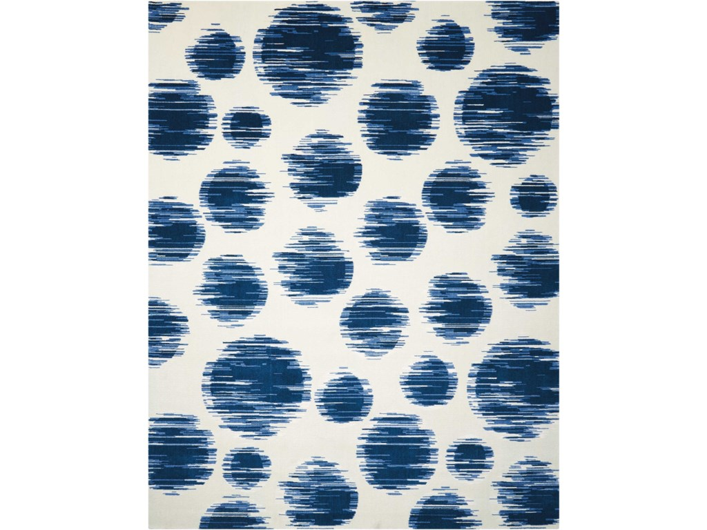 Nourison Twilight112' X 15' Ivory Blue Rug