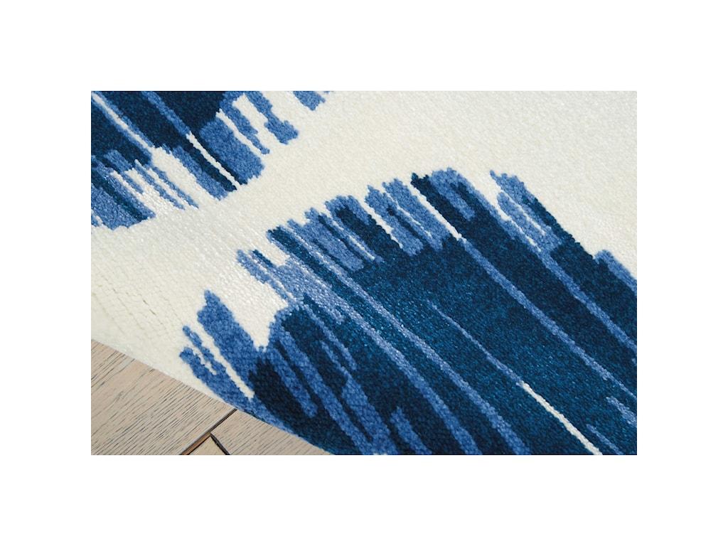 Nourison Twilight112' X 15' Ivory Blue Rug