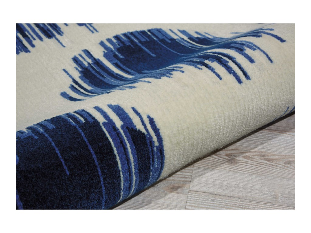 Nourison Twilight18' X 8' Ivory Blue Rug