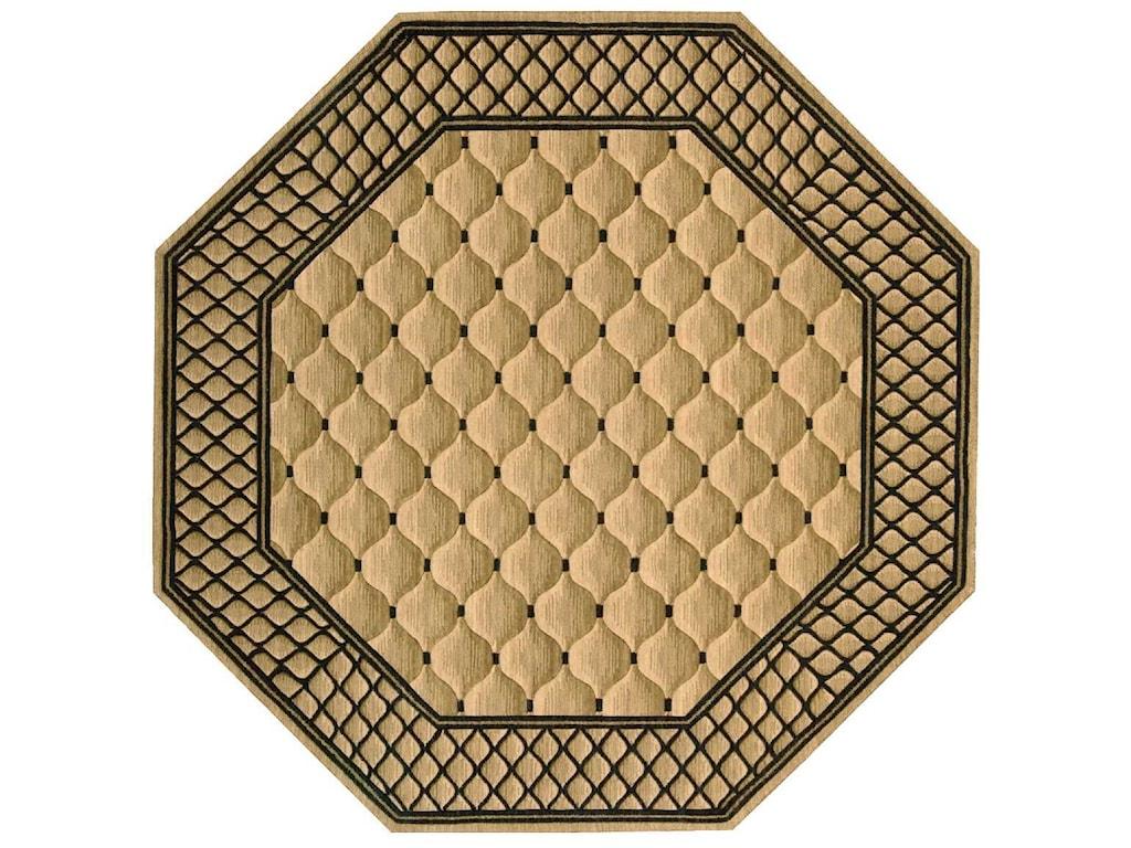Nourison Vallencierre8' x 8' Beige Octagon Rug