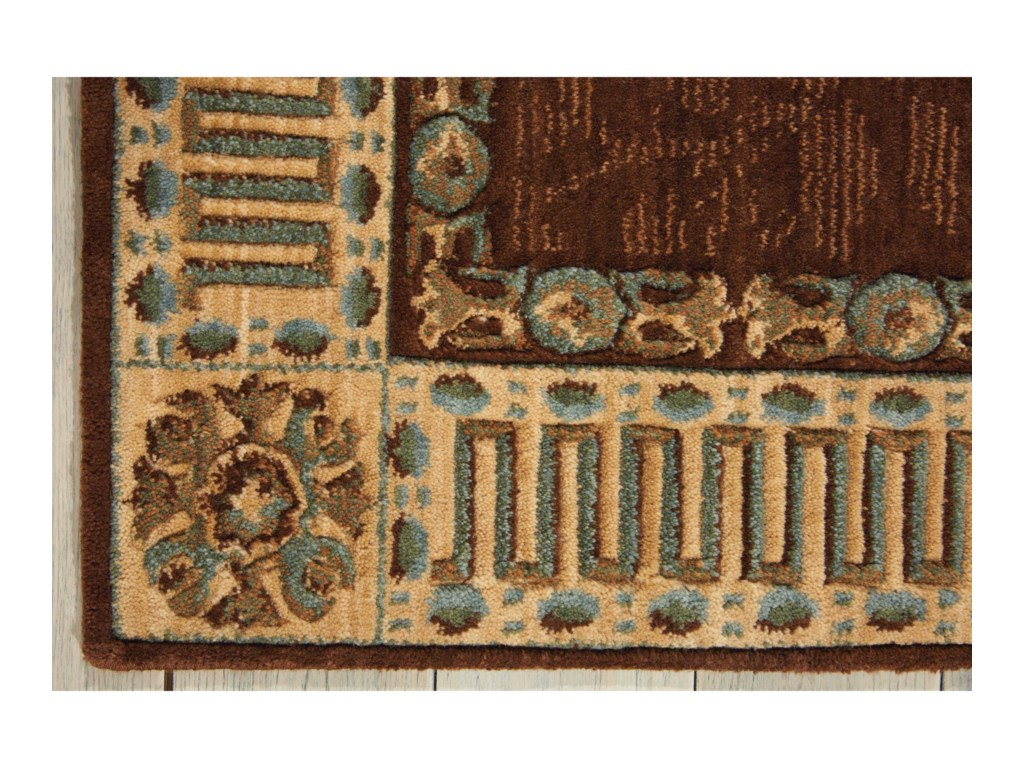 Nourison Vallencierre2' x 3' Brown Rectangle Rug
