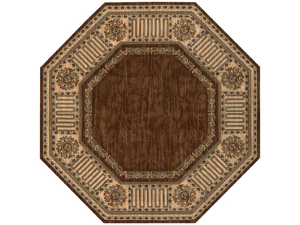 Nourison Vallencierre8' x 8' Brown Octagon Rug