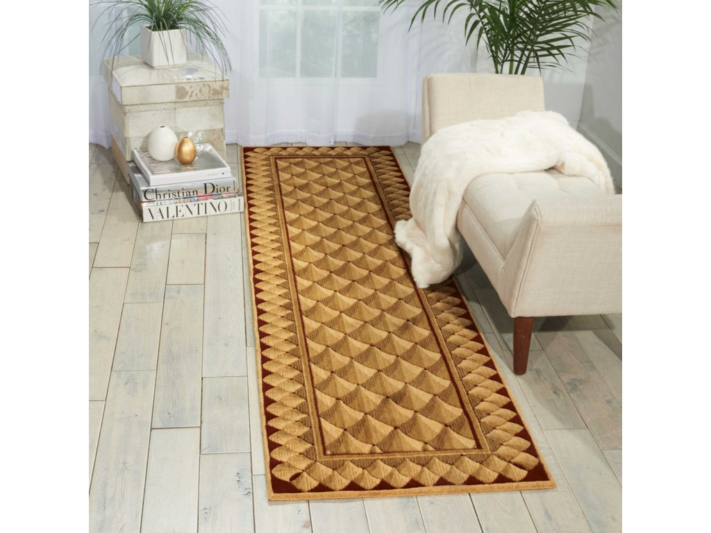 Nourison Vallencierre2' x 3' Camel Rectangle Rug