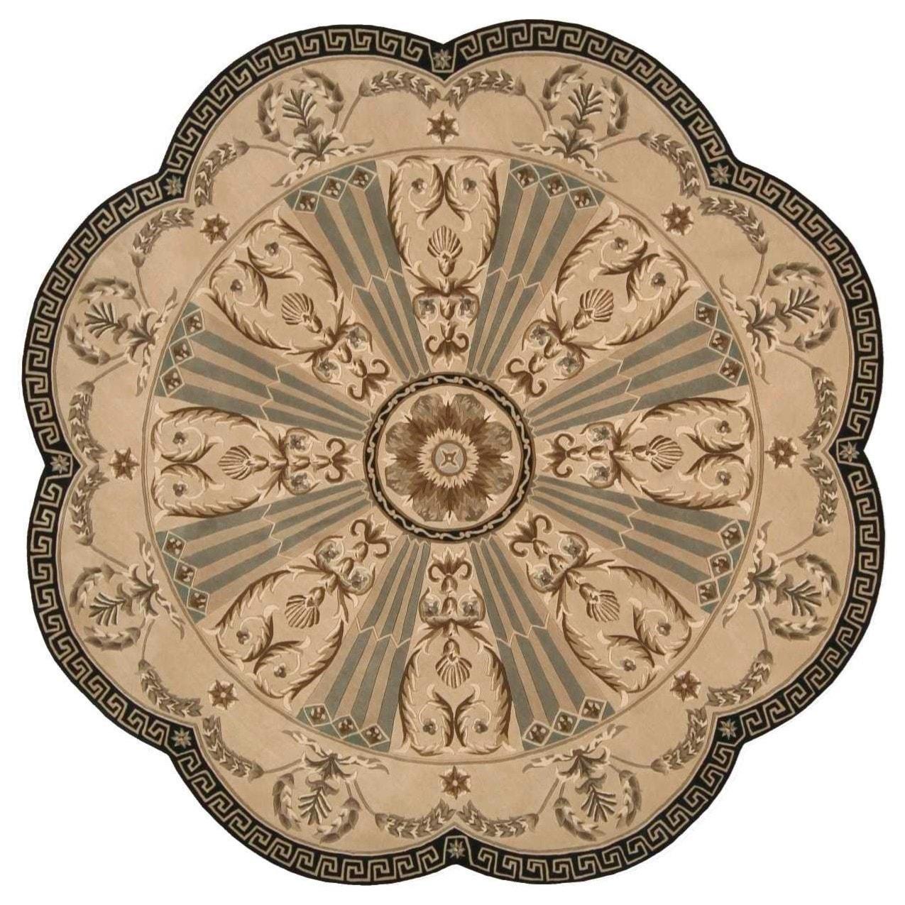 Nourison Versailles Palace 8 X 8 Beige Free Form Rug