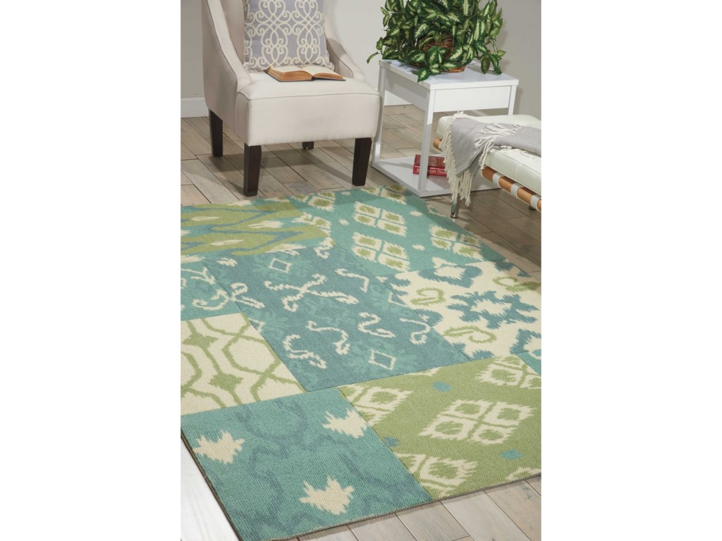 Nourison Vista4' x 6' Multicolor Rectangle Rug