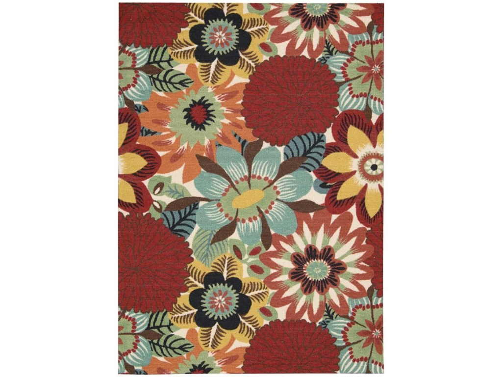 Nourison Vista5' x 7' Multicolor Rectangle Rug