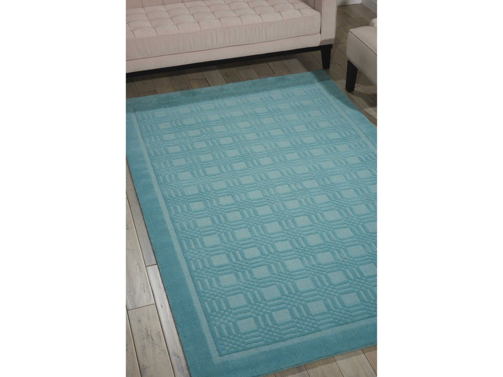 Nourison Westport5' x 8' Aqua Rectangle Rug