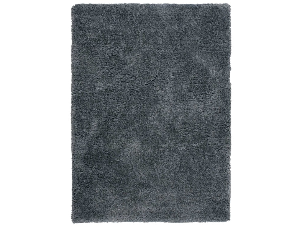 Nourison Zuma5' x 7' Dark Grey Rectangle Rug