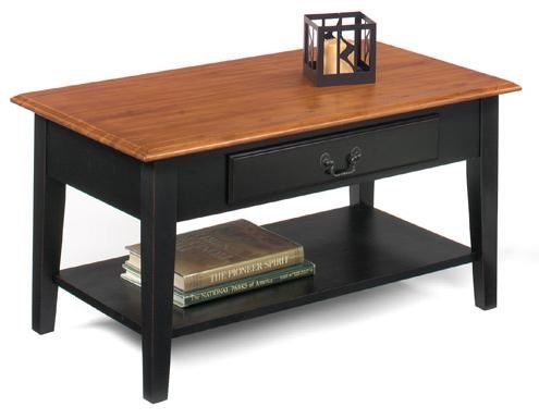 1900 International Accents 1900 00B Rectangular Cocktail Table With Single  Drawer And Bottom Shelf By Null Furniture