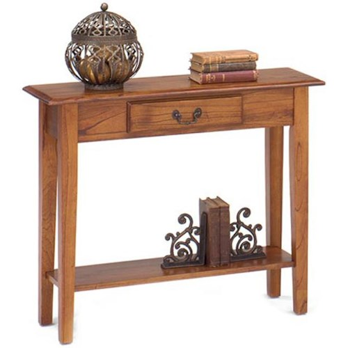 Null Furniture 1900 International Accents Rectangular Sofa Console Table with Single Drawer and Bottom Shelf