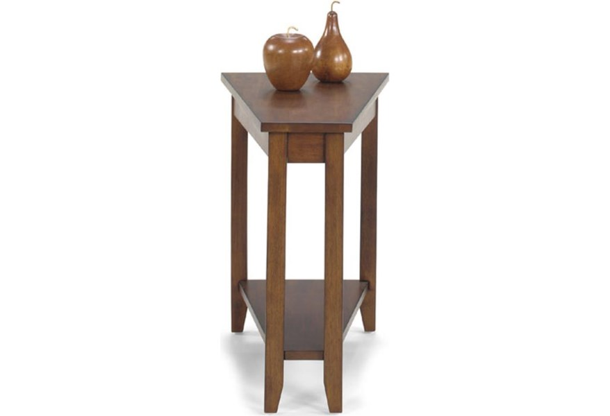 Null Furniture 1900 International Accents Wedge End Table With