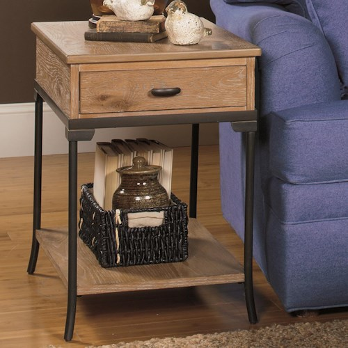 Null Furniture 2013 Rectangular End Table with Metal Legs