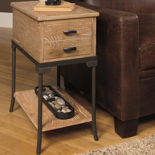 Null Furniture 2013 Chairside End Table Shelf and Drawer