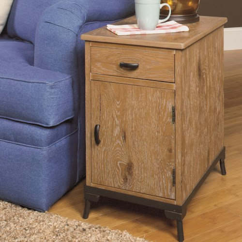 Null Furniture 2013 Chairside Cabinet with Bronze Metal Base
