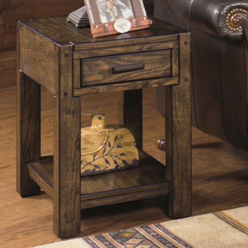 Null Furniture 2014 Rectangular End Table with Shelf