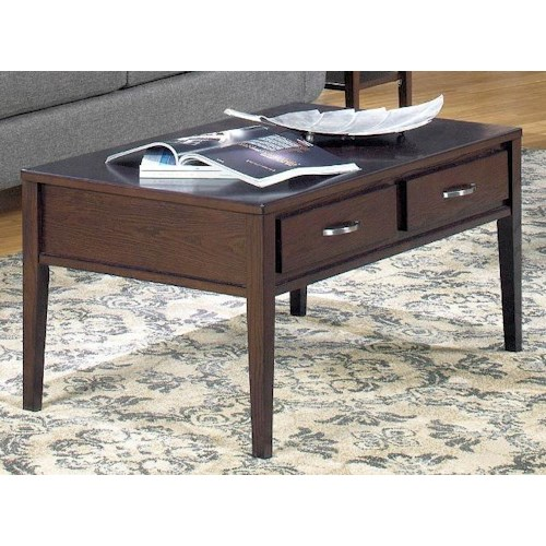 Null Furniture 3012 Rectangular Cocktail Table with 2 Drawers