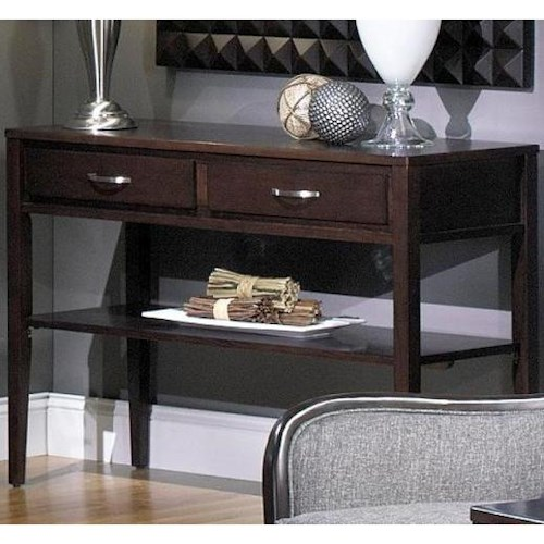 Null Furniture 3012 Rectangular Sofa Table with 2 Drawers and Shelf