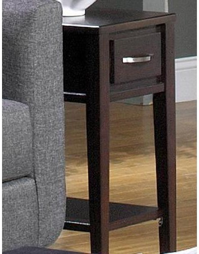Null Furniture 3012 Chairside End Table with Drawer and Shelf