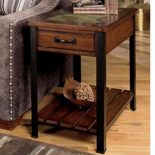 Null Furniture 3013 End Table with Drawer and Shelf