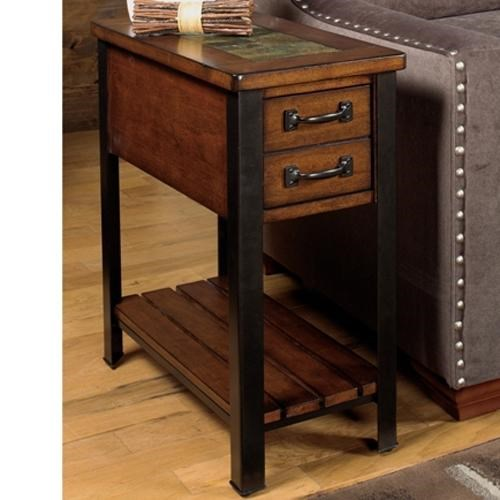 Elegant Null Furniture 3013 End Table With Drawer And Shelf   Dunk U0026 Bright  Furniture   End Table