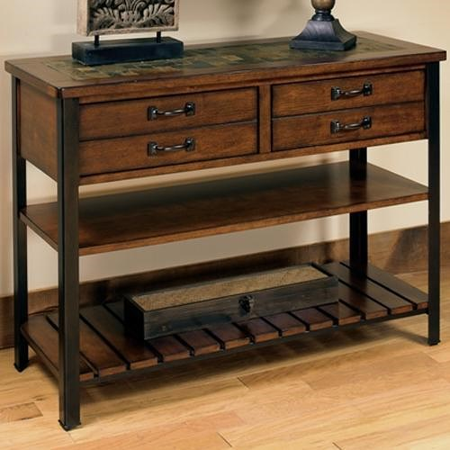 Null Furniture 3013 Sofa Table with 2 Drawers and 2 Shelves