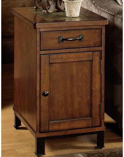 Null Furniture 3013 End Table with Drawer and Door