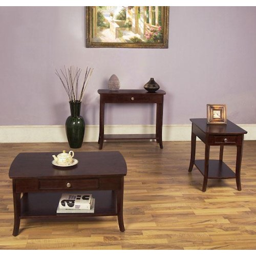 Null Furniture 5010 Table Group 3 Piece Occasional Table Set