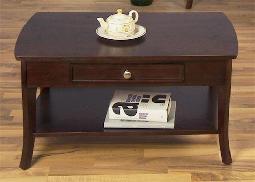 Null Furniture 5010 Table Group Rectangular Cocktail Table with 1 Drawer