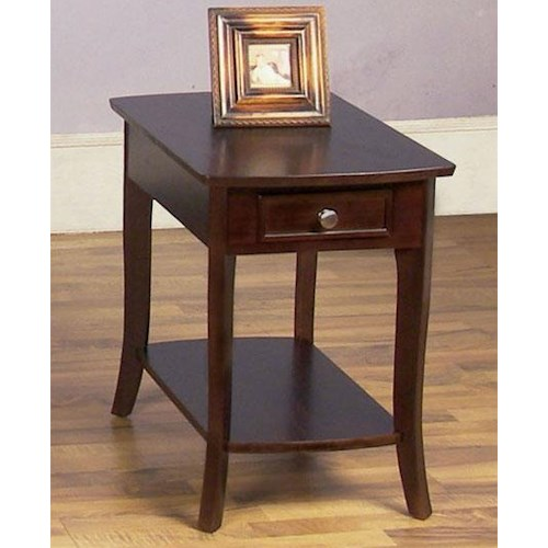 Null Furniture 5010 Table Group Rectangular End Table with 1 Drawer