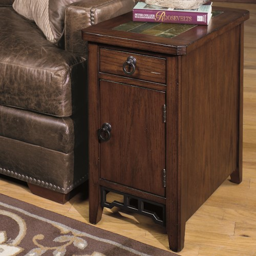 Null Furniture 5013 Chairside Cabinet with Magazine Storage