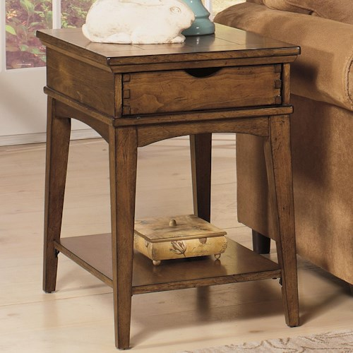 Null Furniture 7013 Rectangular End Table with Drawer
