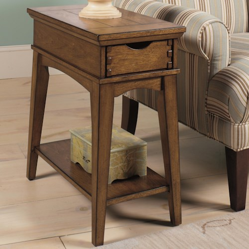 Null Furniture 7013 Chairside End Table with Drawer