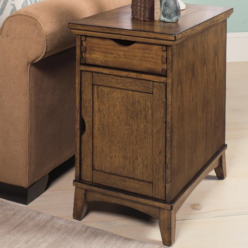 Null Furniture 7013 Chairside Cabinet with Magazine Rack